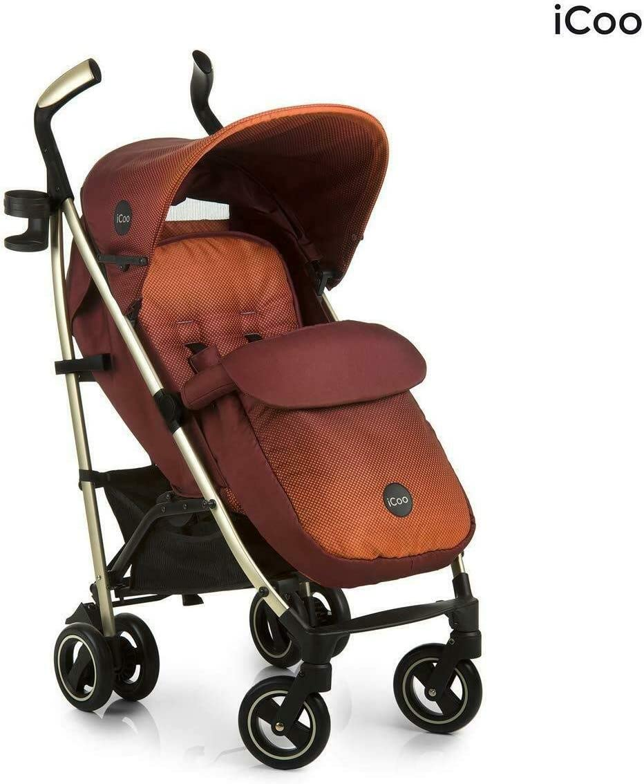 hauck icoo pace Pushchair in Orange Mocca+cosytoes+raincover