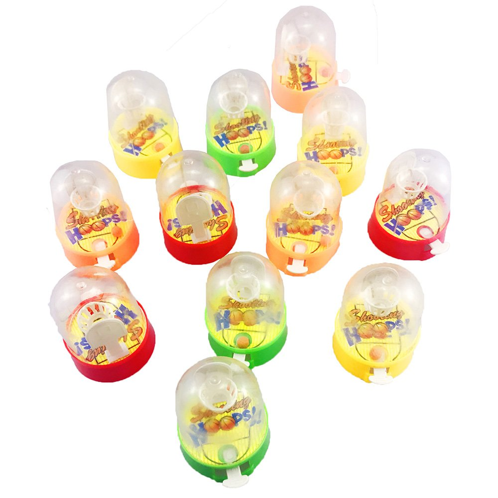 Etmact 12 Pack Mini Finger Basketball Shooting Game, Mini Handheld Desktop Table Basketball Game Toys for Reduce Stress Killing Time