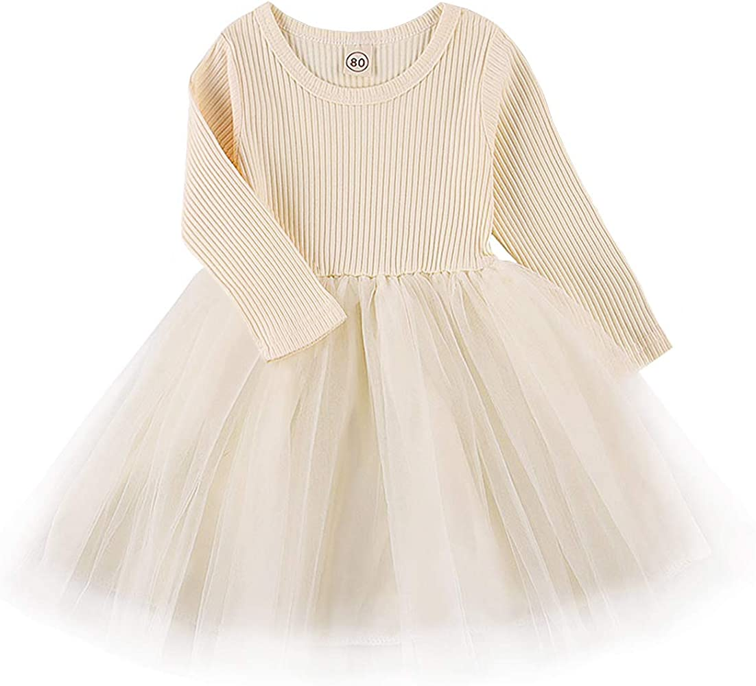 Toddler Baby Girls Summer Dress Tutu Dresses Long Sleeve Infant Children  Clothes for 8-8Years