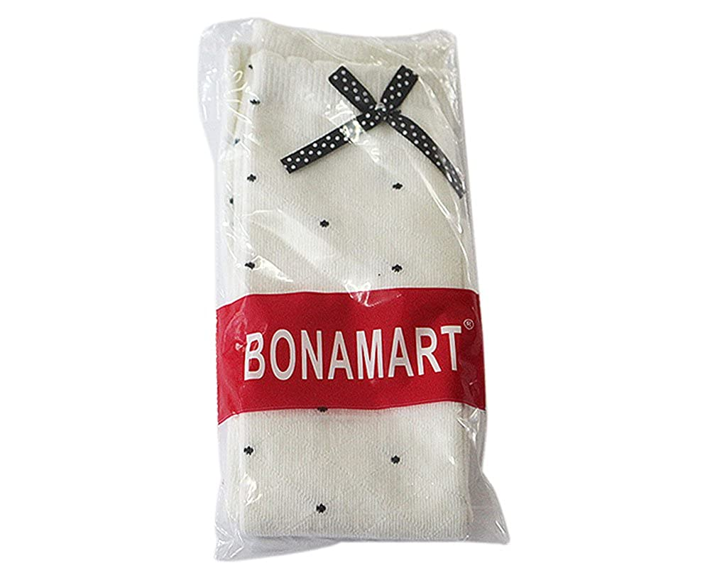 BONAMART 4 Pack Kid Girl Tube Boot Over Knee Socks Stocking 3-8Yr old