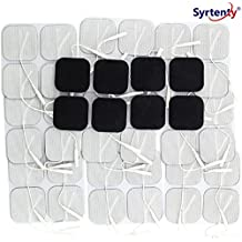 "Syrtenty TENS Unit Electrodes Pads 2x2 Replacement Pads Electrode Patches For Electrotherapy (2"" Square - 44 pack)"