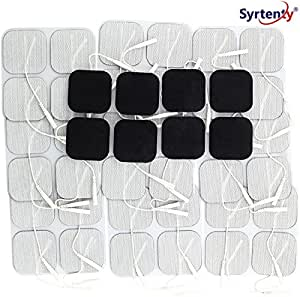 Syrtenty Tens Unit Pads 2x2 44 Pcs Replacement Tens Unit Electrode Pads Reusable