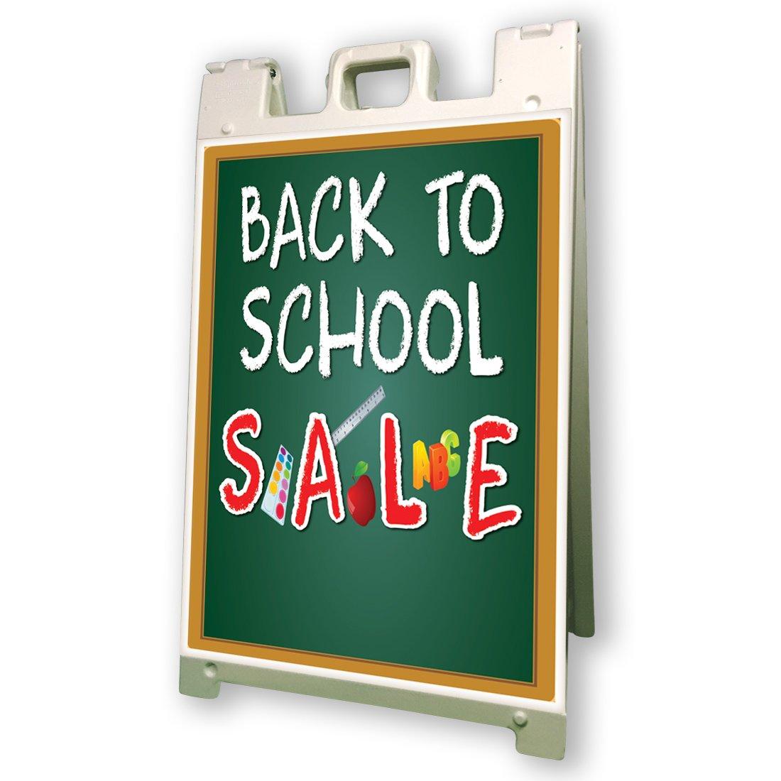 Back to School Sale Sidewalk A Frame 24x36 Outdoor Vinyl Retail Sign