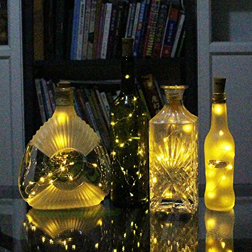 Diy Halloween String Lights : COSOON Set of 6 Wine Bottle Cork Lights Copper String Lights - 15LED 28Inch Wire String Lights ...