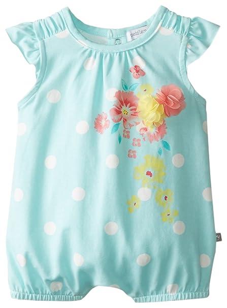 7c3b99262 Amazon.com  Petit Lem Baby Girls  Newborn Aquarelle Romper