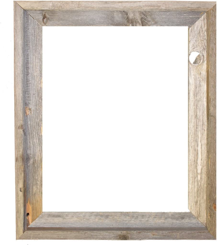 """16x20/"""" recycled rustic barnwood barn wood picture frame weathered old distressed"""