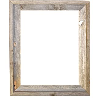 16x20 2 wide signature reclaimed rustic barnwood open frame no glass or back