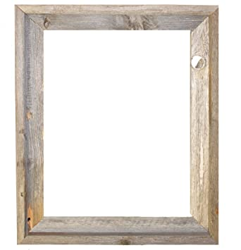 16x20 2 wide signature reclaimed rustic barnwood open frame no glass