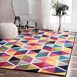 nuLOOM ECCR17A Multi Maris Triangles Area Rug, 5' x 8', Multicolor
