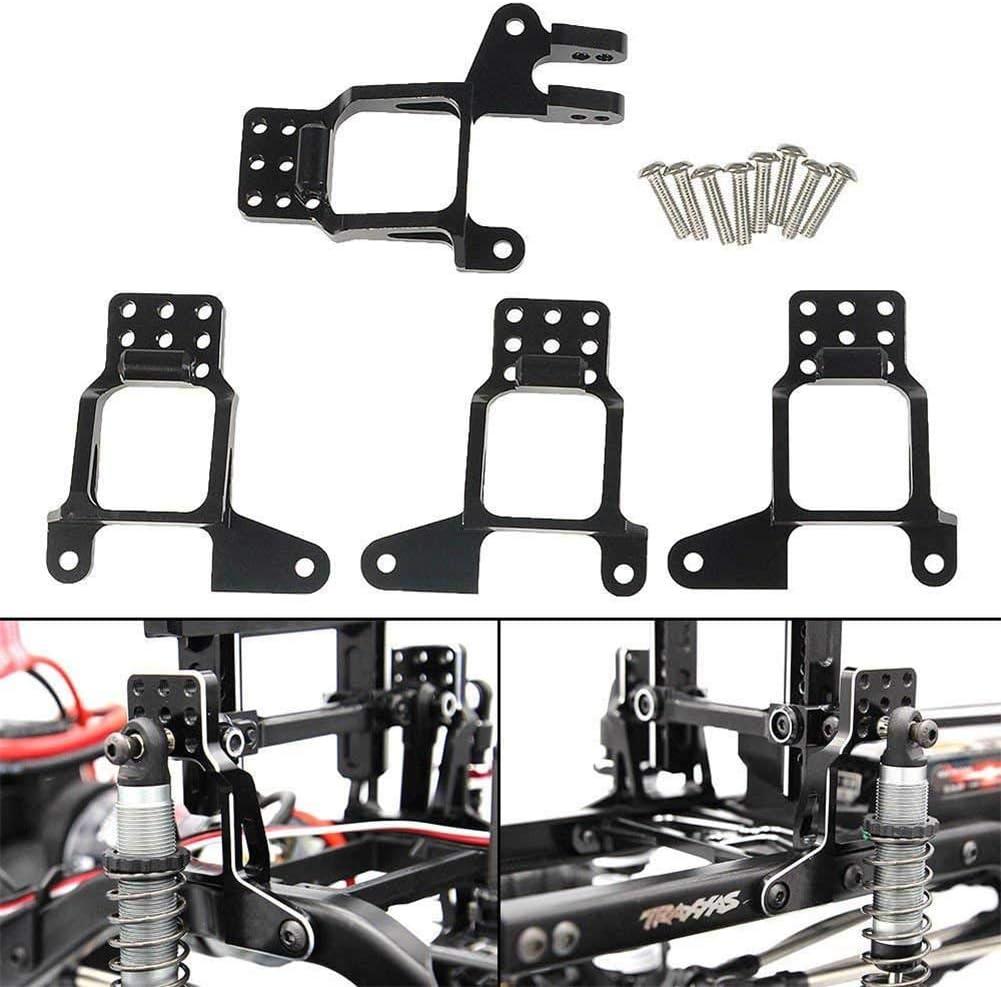 BeesClover 1/10 RC Soporte de aluminio delantero / trasero para Traxxas Trx-4 Multi-Agujeros Ajustable Metal A Prueba de Golpes Modelo Accesorios de ...