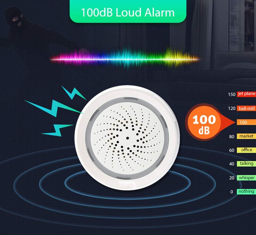 RJHY Allarme Intelligente Allarme USB WiFi Allarme Wireless Intelligente di Temperatura e umidit/à Allarme Domestico 100db Intelligente