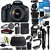Canon EOS Rebel T5 DSLR Camera with 18-55mm Lens + Pixi-Pro Accessory Bundle