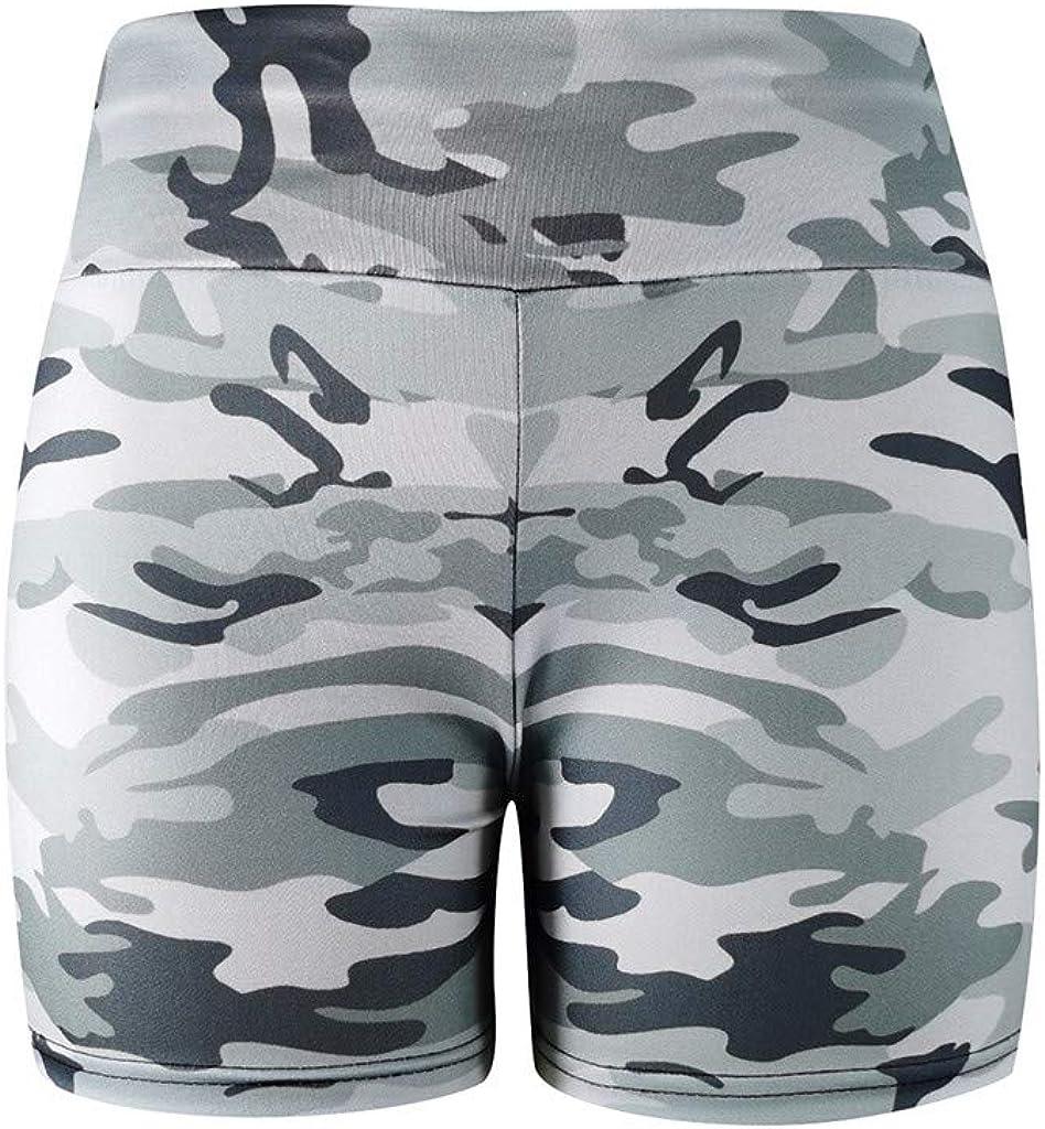 Meikosks Womens Shorts Bottoms Camouflage Workout Leggings Yoga Basic Slip Bike Shorts