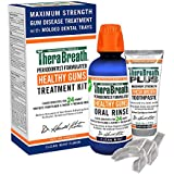 TheraBreath – Healthy Gums Treatment Kit – Periodontist Formulated – 24-Hour Formula – Healthy Gums – TheraBreath PLUS Toothpaste - Treatment for Gingivitis – Added CPC