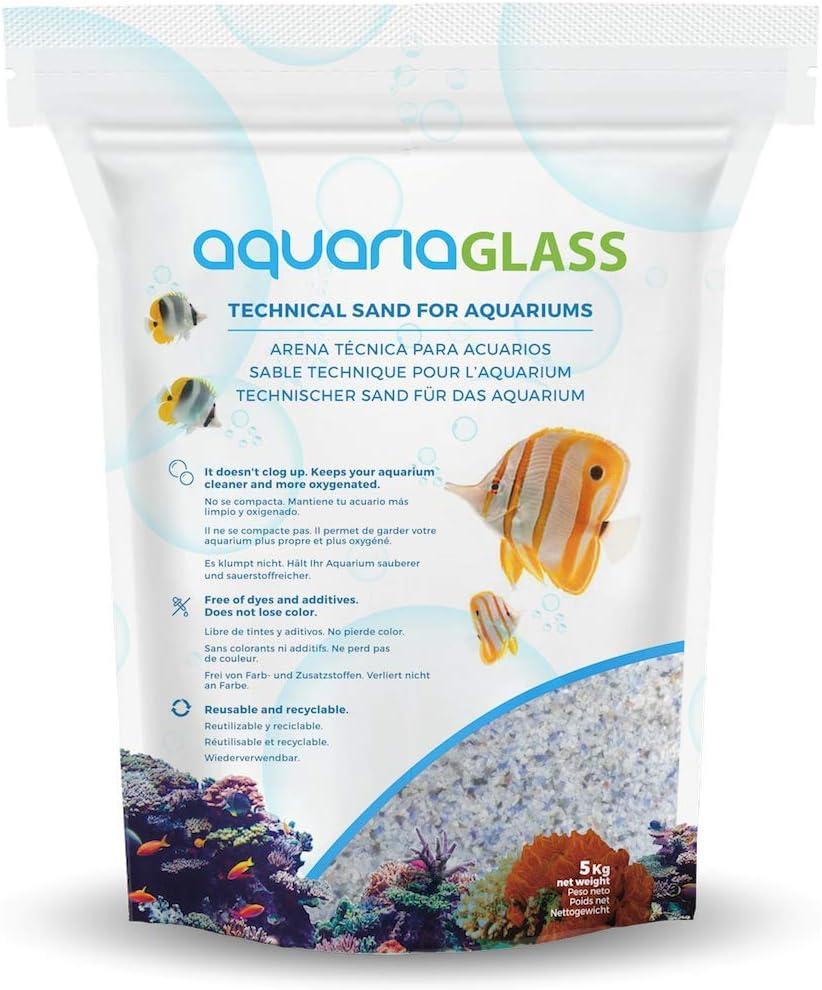 Aquariaglass Arrecife Arena Técnica Para Acuarios, Peceras y Terrarios 5 kilogramos Multicolor