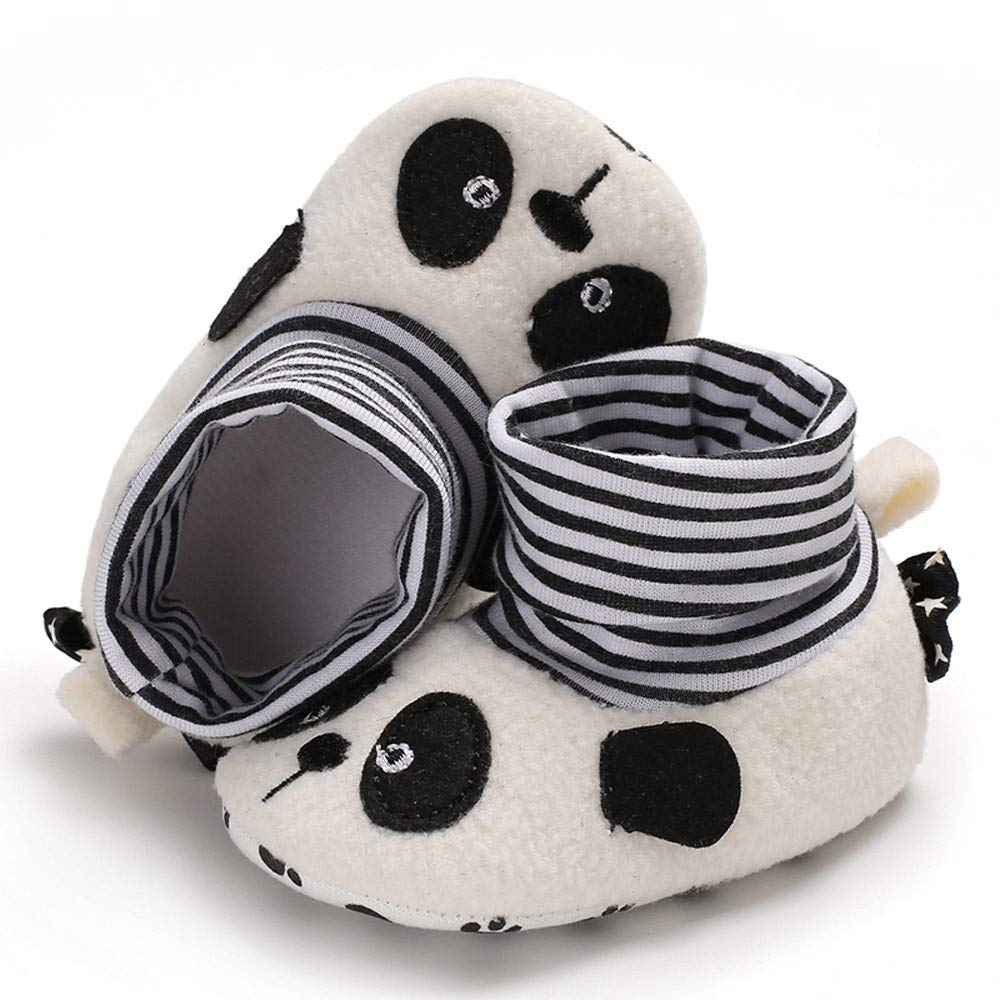 Voberry@ Newborn Baby Cartoon Winter Boots Prewalker Infant Toddler Boys Girls Warm Crib Shoes