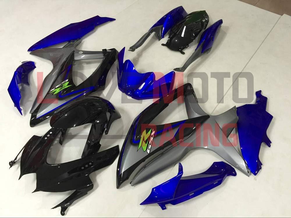 LoveMoto Fairings for suzuki GSX-R600 GSX-R750 K8 2008 2009 2010 08 09 10 GSXR 600 750 ABS Injection Mold Plastic Motorcycle Fairing Set Kits Blue Black