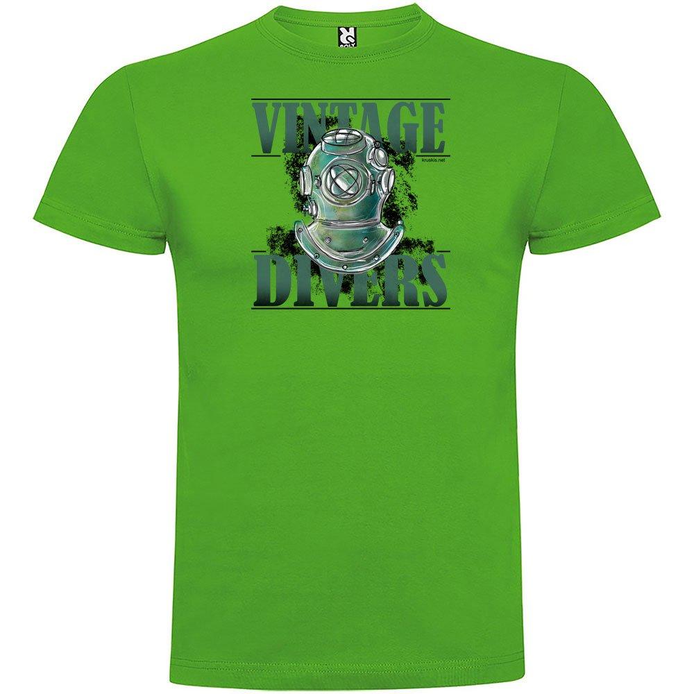 kruskis Camiseta Buceo Vintage Divers Manga Corta Hombre eJqlE