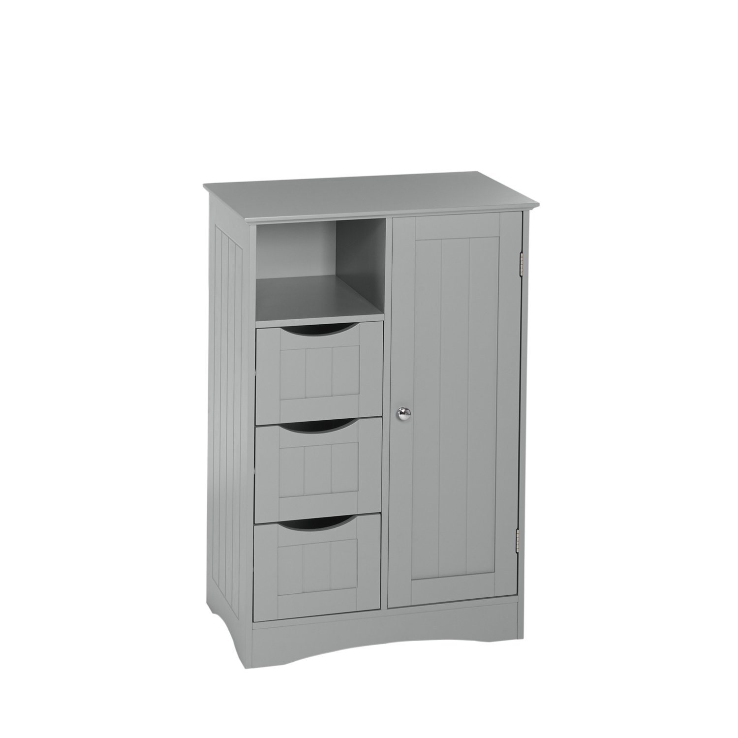RiverRidge Ashland Collection 1 Door, 3 Drawer Floor Cabinet, Gray