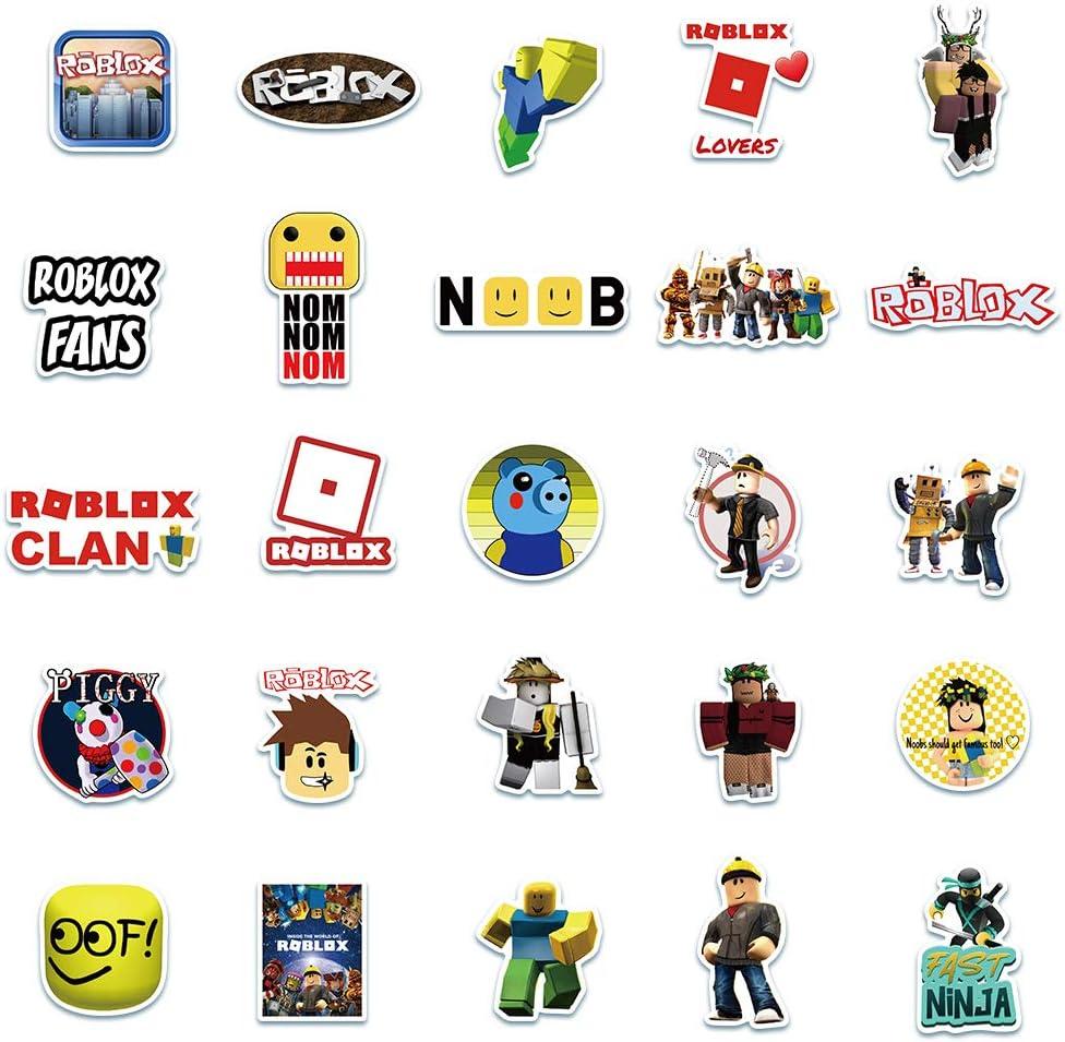 Vinyl Waterproof Stickers for Laptop,Bumper,Car,Skateboard,Water Bottles,Computer,Phone 50 PCS Creative Game blox Stickers Gifts for Kids Teens