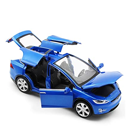 De Modelo Pull Alloy Sports Car Juguete Niños Para Coche PullTesla XOZiPku