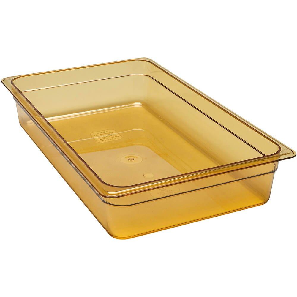 H-Pan, Plastic Hi-Temp, Full Size, 4'' Deep, Polysulfone, Non-Stick Surface, Won'T Bend Or Dent, (6 Pieces/Unit)