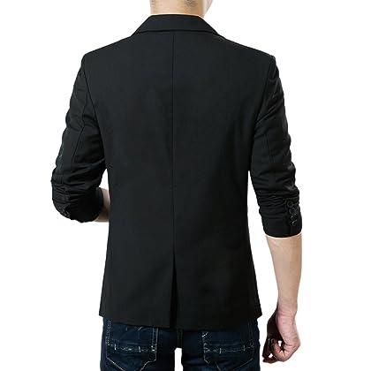 887432362db6 ... Tag Pishon Men s Blazer Jacket Lightweight Casual Slim Fit One Button  Sport Jackets