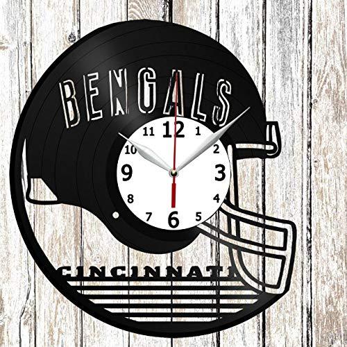 Cincinnati Bengals Vinel Record Wall Clock Home Art Decor Original Gift Unique Design Handmade Vinyl Clock Black Exclusive Clock Fan Art