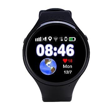 Niños Inteligente Relojes, GPS Tracker para Niños de Podómetro con Pantalla Táctil Llamadas SIM SOS