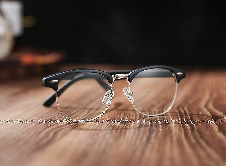 Amazon.com: COASION - Gafas de sol con montura de cuerno de ...