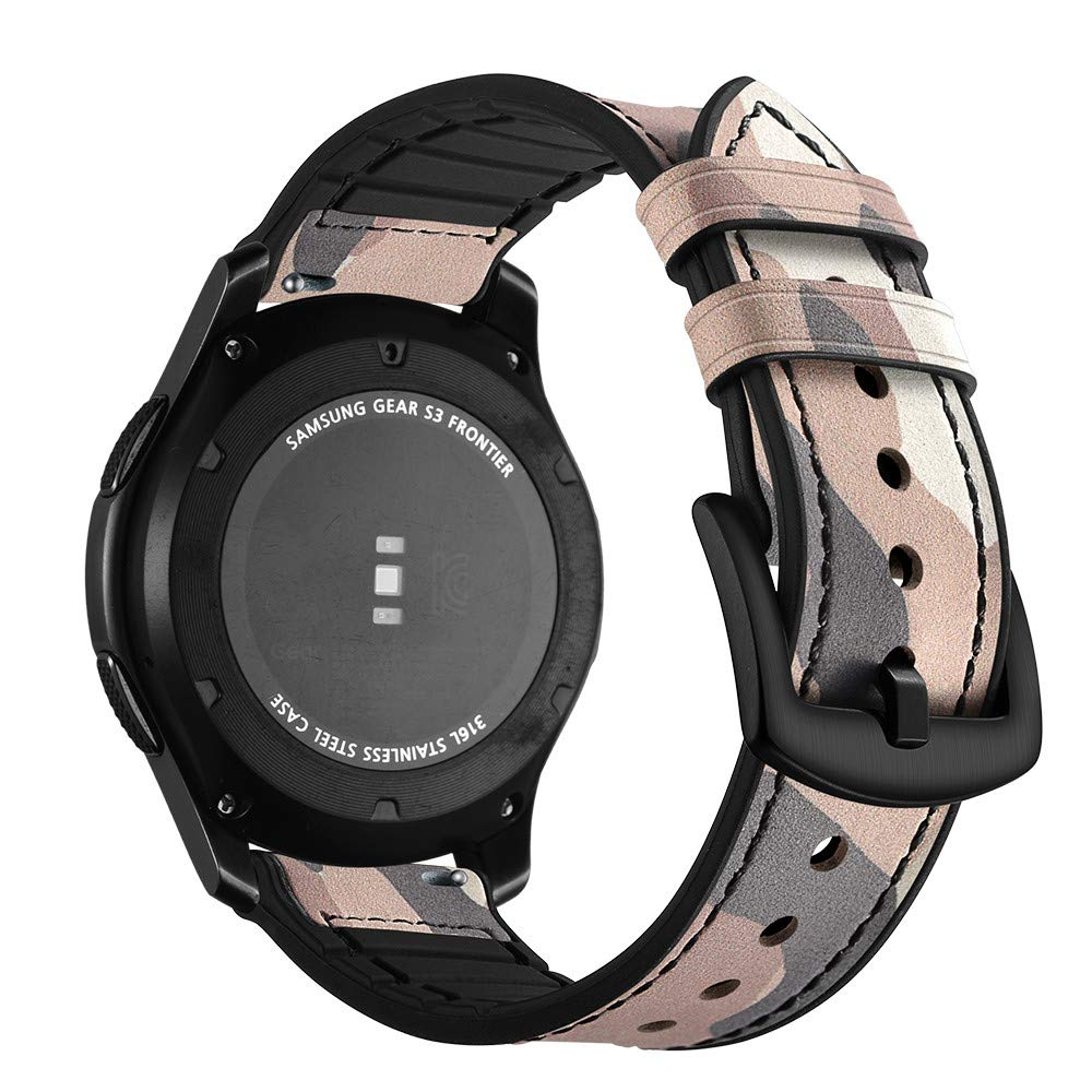 Amazon.com: Saying Camouflage Fashion Leather Watch Bands ...