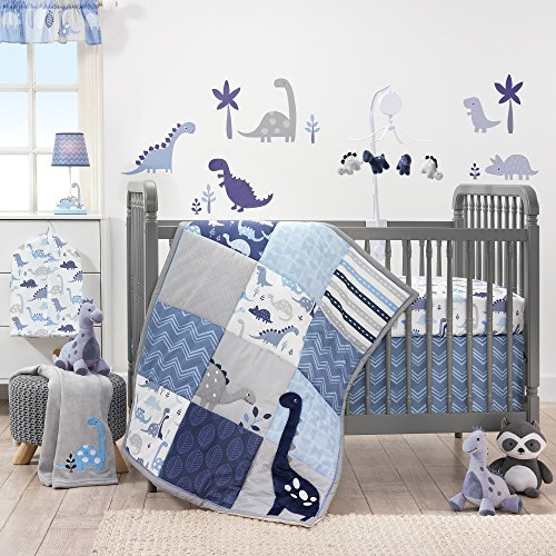 Crib Bedding Bed Set (Bedtime Originals Roar Dinosaur 3 Piece Crib Bedding Set, Blue/Gray)