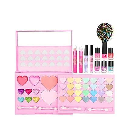 Wovemster Juguete educativo para niña, juego de maquillaje ...