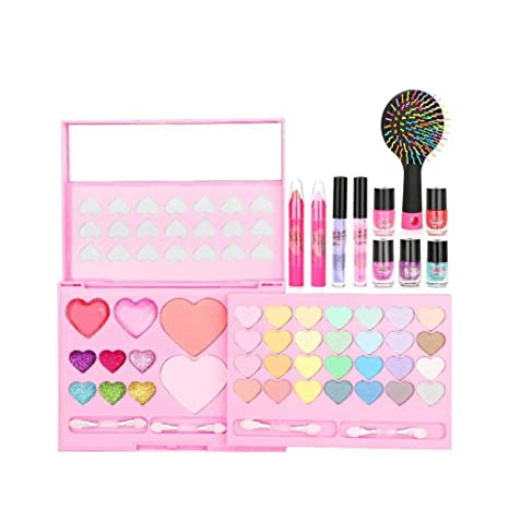 00011c66a1dd2 Image Unavailable. Image not available for. Color  shantan Pretend Makeup  Nail Polish  Lipstick Set for Children with Flashing Cosmetic ...