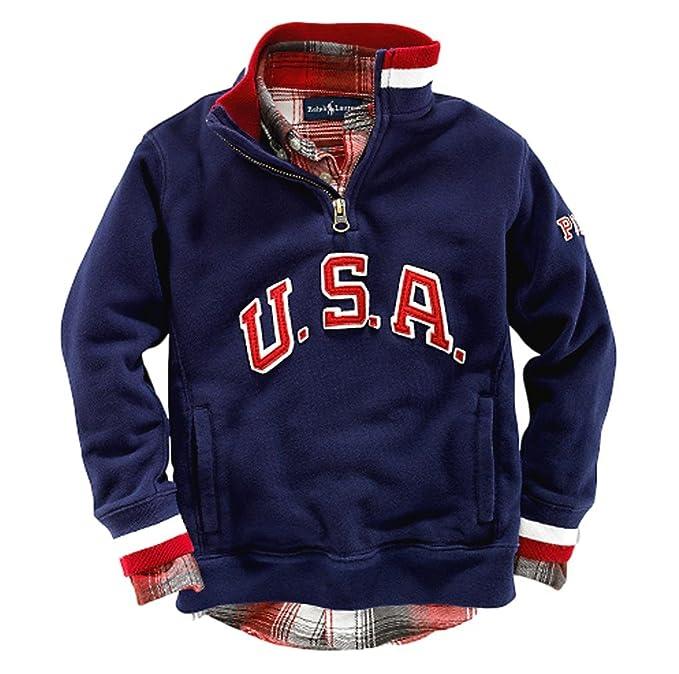 purchase cheap e5577 4b0c5 Felpa Ralph Lauren bambino USA con cappuccio colore blu o ...