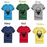 iYYVV Men Women Fashion T Shirt Printing Skull Tops Tees Shirt Short Sleeve Blue