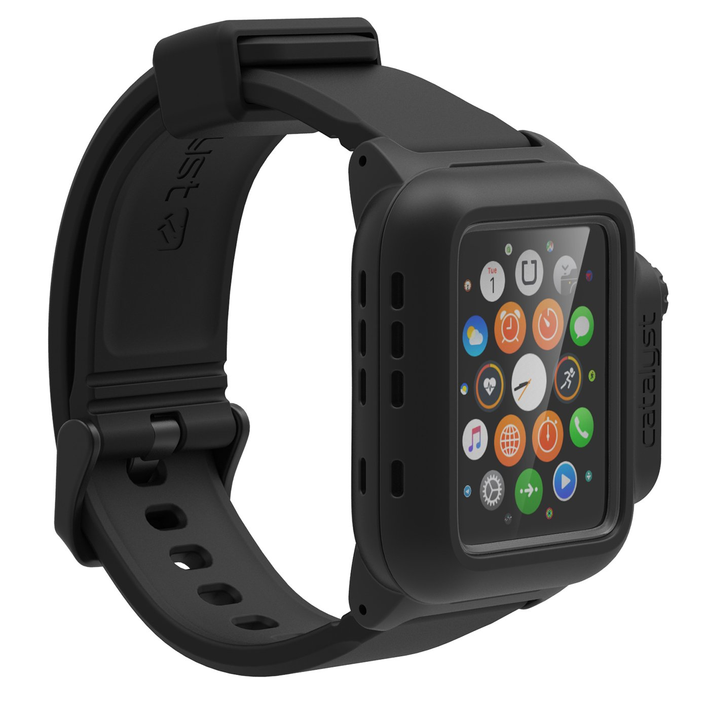 Amazon com catalyst waterproof shock resistant case for apple watch 42mm series 1 stealth black cell phones accessories