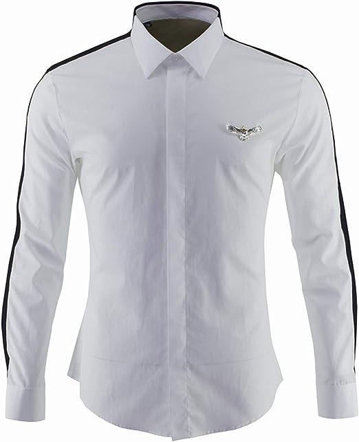 HOSD Camisa de Bloque de Color con Logotipo de águila de ...