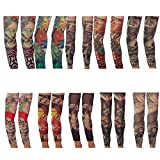 VIGUEUR Tattoos that Look Real Tattoo Arm Sleeves for Men Body Art Tattoo 10 Pairs 20Pcs(Random)