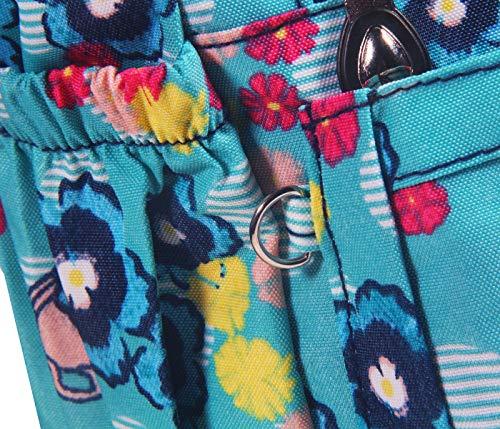 Messenger rose Imperméable Cusual poches Bandoulière à 4 L'eau Femme colorful 4 Sac ABLE Multi Femme Flowers Sac BqO0gCx