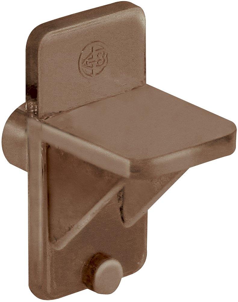 Platte River 866532, Hardware, Shelf And Support, Shelf Pins, Brown Plastic Shelf Clips, 100-pack