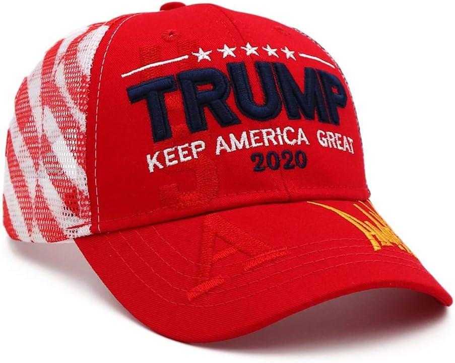 Cokeymove Baseballm/ütze Donald Trump Hut 2020 Trump General Election Hut Baseballm/ütze Mit Flagge Verstellbare Baseballkappe