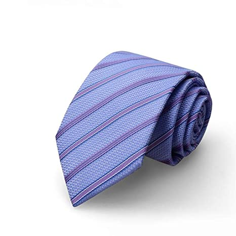 HBJP Corbata/Corbata de Rayas Azules/Moda de Negocios ...