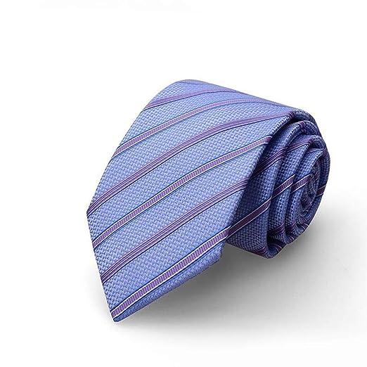 Corbata/Corbata de Rayas Azules/Moda de Negocios/Corbata de 8 cm ...