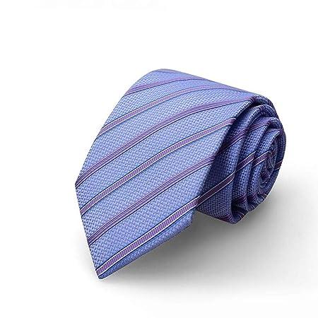 HBJP Corbata/Corbata de Rayas Azules/Moda de Negocios/Corbata de 8 ...
