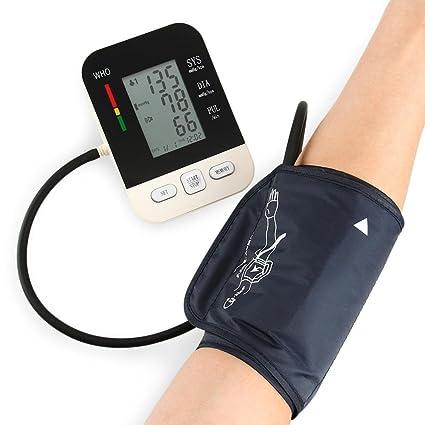 GAIHU Monitor de presión arterial del brazo superior Pantalla Digital LCD Doble 99 Grupo de almacenamiento