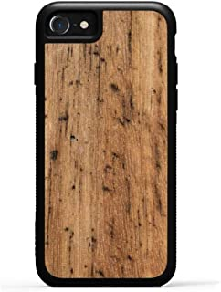 product image for Carved iPhone 8 Eucalyptus Wood Traveler Case, Unique Real Wooden Phone Cover (Rubber Bumper, Fits Apple iPhone 8)