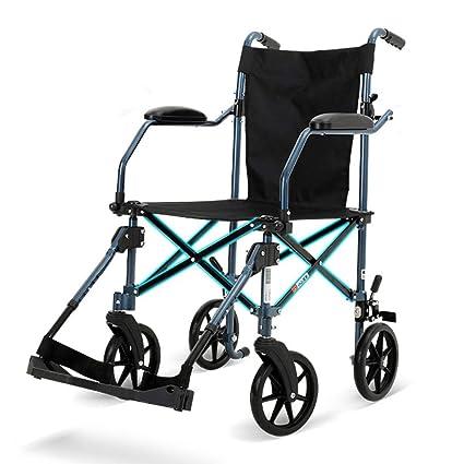 Sillas de ruedas Manual Plegable Ancianos portátil aleación de Aluminio