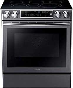 "Samsung NE58K9500SG 30"" Slide-in Electric Range with Smoothtop Cooktop, 5.8 cu. ft. Primary Oven Capacity, in Black Stainless Steel"