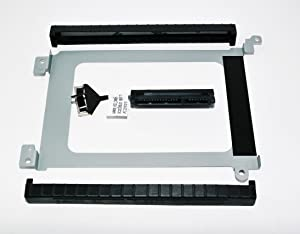 Dell XDYGX HDD Cable, 3XYT5 Grommet HDD Rubber, 3FDY3 HDD Bracket Caddy for Dell XPS 15 9570 9550, 9560, Precision 5510 5520 with 2.5 inch Drive Bay Complete Set Plus Best Notebook Stylus Pen Light